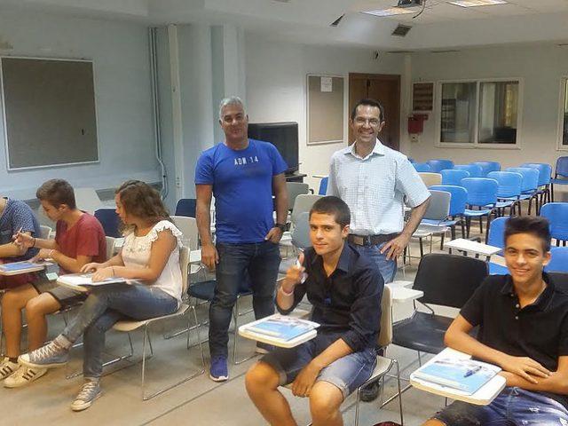Οι μαθητές του πρώτου Θερινού Σχολείου Νεανικής Επιχειρηματικότητας του Πανεπιστημίου Μακεδονίας. Στην αίθουσα Τηλεκπαίδευσης του Πανεπιστημίου Μακεδονίας όπου πραγματοποιήθηκαν οι διαλέξεις.